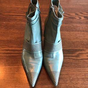 Pedro Garcia Pistacchio leather booties